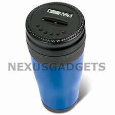 Car Coin Counter Counting Cup Electronic Digital Money Change Piggy Bank BLUE FS