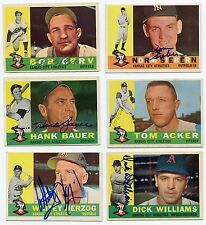 Lot Of 19 Dif Signed 1960 Topps Kansas City ATHLETICS   A's Herzog,   +++   KOA