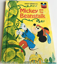 1973 Mickey And The Beanstalk Mouse Jack Walt Disney Book Hardback & Beginner