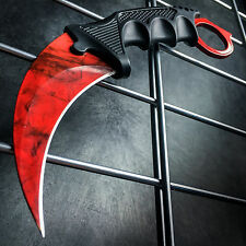 TACTICAL COMBAT KARAMBIT KNIFE Survival Hunting BOWIE Fixed Blade RUBY DOPPLER