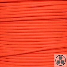 Textilkabel Stoffkabel Lampen-Kabel Stromkabel Elektrokabel Neon Orange 3adrig