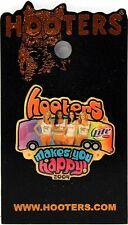 HOOTERS RESTAURANT GIRL'S MAKES YOU HAPPY TOUR BUS MILLER LITE LAPEL PIN 2004
