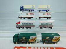 AU948-1# 4x Herpa H0 Roadtrain MB: Eder+König-Pilsener+Wernesgrüner+Gaff