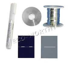 52*38 40pcs Poly Solar Cells Kit w/ Tab Wire Bus Wire Flux Pen DIY Solar Panel