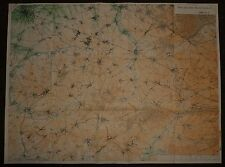 1918 WW1 WWI LARGE MAP FRANCE THE ADVANCE to LE CATEAU BRITISH & FRENCH