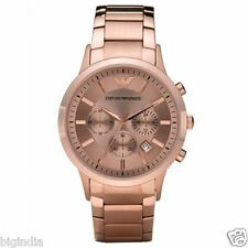 Emporio Armani Men's AR2452 Stainless-Steel Full Rose Gold Chronograph Watch