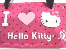 "New Hello Kitty Pink Wall Sign ""I Love Hello Kitty"" Plaque Door Hanger - Sanrio"