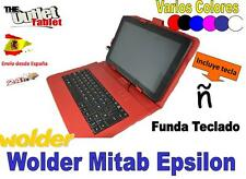 """FUNDA CON TECLADO PARA TABLET WOLDER MITAB EPSILON VARIOS COLORES 10 10.1"""""""