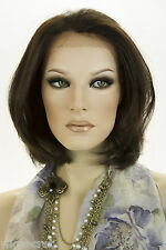 Straight Softly Layered Style Short Lace Front Blonde Brunette Red Wavy Wigs