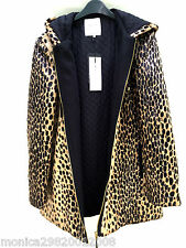 ZARA ANIMAL PRINT FURRY PARKA JACKET COAT SIZE MEDIUM REF 1255 294