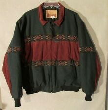S4060 Cripple Creek by Circle S Ultrasuede Light Green/Red Full Zip Jacket