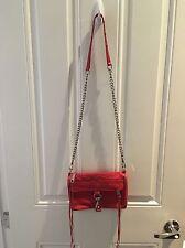 Rebecca Minkoff MAC Mini Convertible Crossbody Bag Poppy RED Leather
