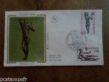 FRANCE 1974, FDC EUROPA, ART, SCULPTURES, VF FIRST DAY COVER, TP 1789/1790