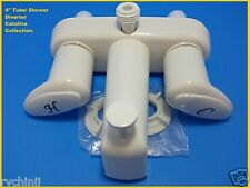 RV Mobile Tub/ Shower Faucet  Replacement With D- spud x Attach H.H Shower White