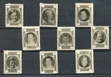 NEDERLAND 1937 ca   9 x  FOTO STAMPS  ON THICK PAPER