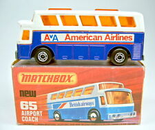 "Matchbox SF Nr.65C Airport Coach ""American Airlines"" top in Box"