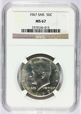 1967 U.S. Kennedy Half Dollar SMS 50 Cents Silver Coin - NGC MS 67