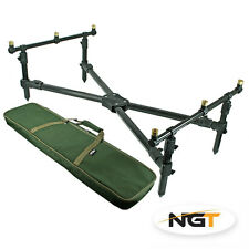 NEW NGT CARP FISHING CROSS ROD POD + CARRY CASE FREE P&P  ROD POD **************
