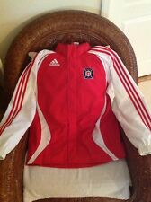 Vintage 2006 Chicago Fire Adidas MLS  soccer rain Hoodie  Jacket Size S Men's