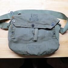 WWII US Army Lightweight Service Gas Mask Carrying Bag with GP Strap OD7 Canvas
