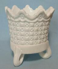VICTORIAN PRESSED MILK GLASS VASE BY SOWERBY REGISTERED DESIGN 1876