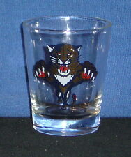 Tiger Pouncing on 1oz Clear Glass Shot Glass - NEW