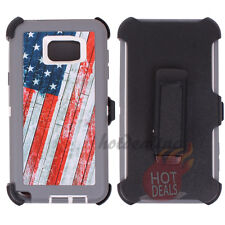 For Samsung Galaxy Note 5 USA Flag Camo Case (Belt Clip Fits OtterBox Defender)