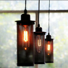 Retro Bottle Metal Cage Black Mesh Net Pendant Lamps Lights Ceiling Fixtures