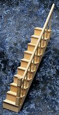 Dollhouse Miniature Unfinished Wood Simple Stair Kit