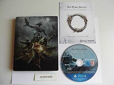 The Elder Scrolls Online Tamriel Unlimited STEELBOOK PS4 Game LE --REGION FREE--
