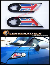 07+ MINI Cooper/S/ONE R56 R57 Chrome Side Scuttles REPEATER Indicator Union Jack