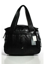 NEW FRANCESCO BIASIA Black Leather Double Handle Large Tote Handbag