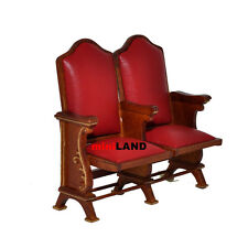 Miniature double seats THEATRE CHAIR dollhouse cinema 1:12 red leather #0721-2
