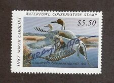 NC5 - North Carolina State Duck Stamp. Artist Signed Single. MNH. OG   #02 NC5AS