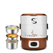 110V mini small rice cooker 3 layers multifunctional electric heating lunch box
