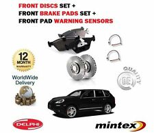 FOR PORSCHE CAYENNE 3.2 3.6 2004-2010 FRONT BRAKE DISCS SET + PAD KIT +SENSOR