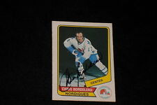 CHRIS BORDELEAU 1976-77 WHA O-PEE-CHEE SIGNED AUTOGRAPHED CARD #49 NORDIQUES