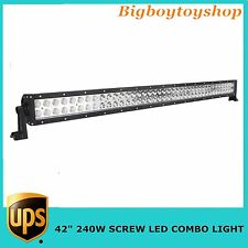 42 inch 240W LED Work Light Bar Flood Spot Combo Offroad 4WD Jeep Driving Screw
