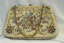 VINTAGE TAPESTRY UPHOLSTERY CHAIN STRAP SMALL EVENING HANDBAG ENGLAND