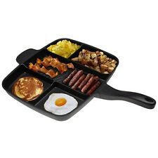 15''  Nonstick Divided Grill Fry Oven Meal Skillet Frying Pan Black Master Pan