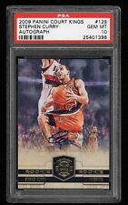 PSA 10 2009 PANINI COURT KINGS AUTO #129 STEPHEN CURRY ROOKIE CARD (RC) 244/649