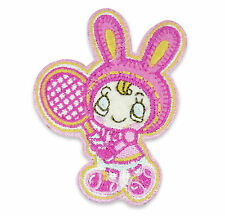 Cute Easter Bunny Kawaii Embroidered Iron-On Sew-On Patch Badge Kitsch DIY Craft