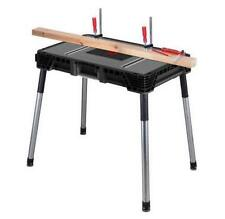 Husky 1.8 ft. x 3 ft. Portable Jobsite Workbench Table Saw Stand Home Work Bench