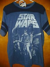 NEW Disney STAR WARS Classic 1977 Mens Shirt Vader Han Solo Leia MEDIUM 38/40 Q3