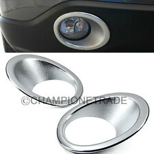 Triple Chrome Front Fog Light Lamp Cover Trim for Honda CR-V 2007 2008 2009 CT