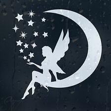 Funny Cartoon Fairy Dust On Moon Stars Around Car Decal Vinyl Sticker