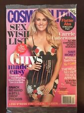 Cosmopolitan Sex Wish List Carrie Underwood Flat Abs December 2015 FREE SHIPPING
