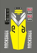 ROCK SHOX SID  FORK DECAL SET NEON YELLOW / SILVER VERSION