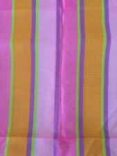 Multi Color Stripped Dress Curtains Quilting Crafts Fabric Pink Orange Purple