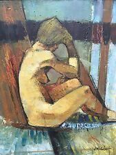 tableau,peinture,femme nue,école de paris,JM Hubert, années 60